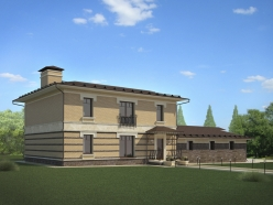 Дизайн дома с гаражом на Новорижском шоссе 2