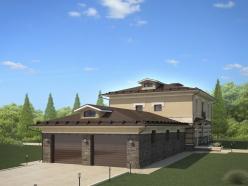 Дизайн дома с гаражом на Новорижском шоссе 6