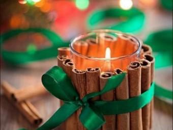 Новогодний и рождественский декор подсвечников
