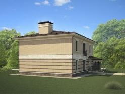Дизайн дома с гаражом на Новорижском шоссе 3