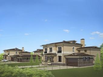 Комплекс зданий усадьбы выполнен в спвременном стиле