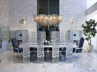 Дизайн интерьера двухэтажной квартиры Jade Ocean (19 фото)